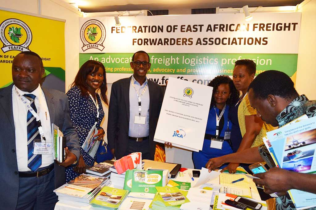 Guests at FEAFFA Stand During the f Global Logistics Summit in Dar Tanzania